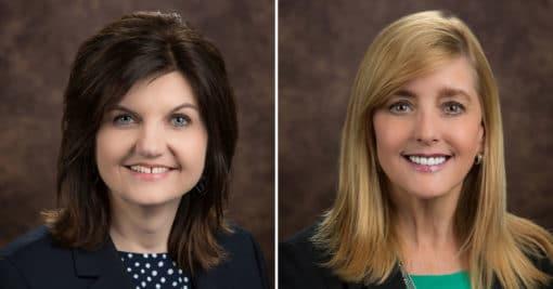 Headshots of Melinda and Allison